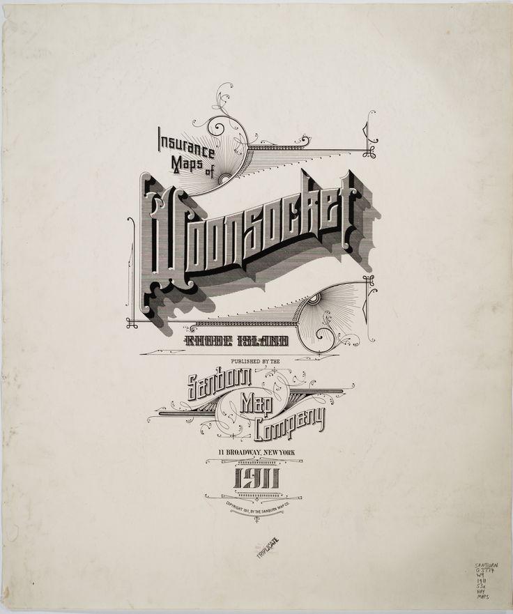 Sanborn Insurance Maps of WOONSOCKET RI 1911