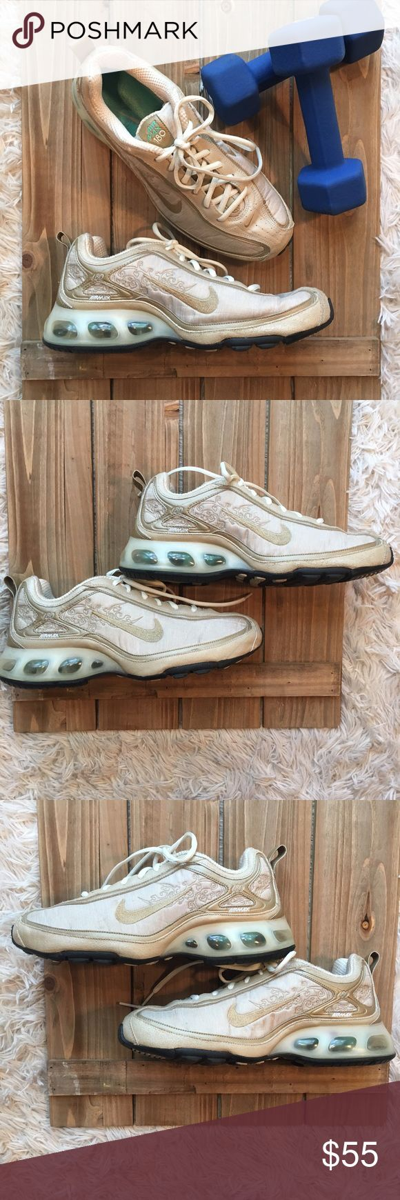 Limited Edition Nike Air Max 180 Light gold and champagne color/good used condition/only worn a few times Nike Shoes Athletic Shoes