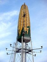 corn water tower in Rochester MN