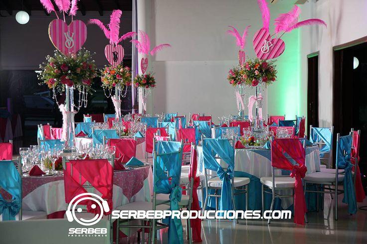 Fiesta Temáticas de 15 Años en Cali, Temática Love Pink, Hacienda San Jerónimo, Serbeb Producciones