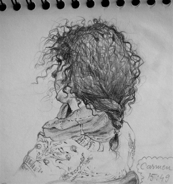 Pencil on paper - Carmen