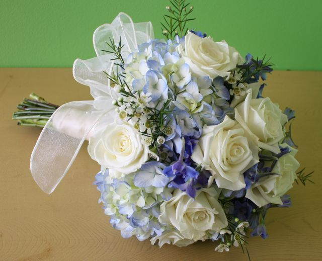 82 best malibu blue images on pinterest perfect wedding for White and blue flower bouquet