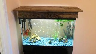 diy aquarium hood canopy - YouTube