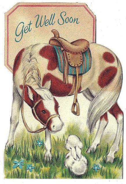 Открытки для девочек лошади