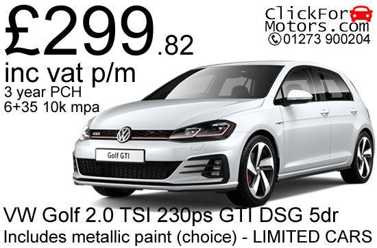 VW Golf 2.0 TSI 230ps GTI DSG 5dr – £299.82 inc vat p/m – LIMITED CARS! | ClickForMotors.com