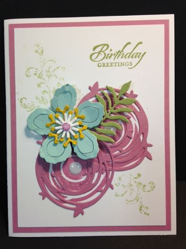 A Swirly Bird Timeless Textures and Botanical Builders Birthday Card