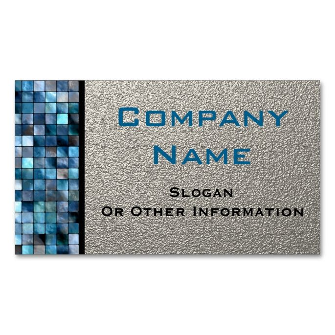 Blue Mosaic Tiles Business Cards Construction Business Card