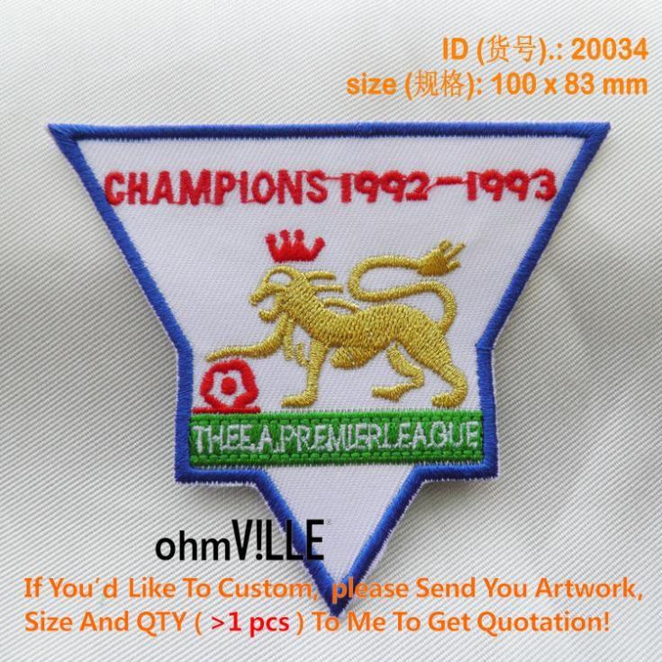 Чемпионы 20034 премьер-лига 1992 - 1993 - если ты бы пользовательские патч, Пожалуйста свяжитесь с нами , чтобы получить цитаты