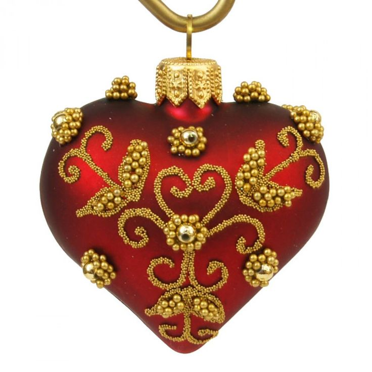 Maroon Christmas Ornaments Part - 38: Maroon Leaf - Heart · Christmas Ornaments