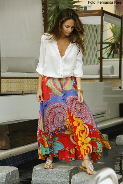 Skirt Long+Shirt white