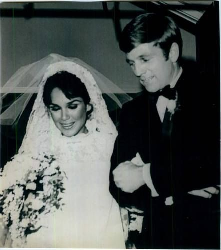 1967 wedding of Miss America (1959), Mary Ann Mobley, and TV actor and talk show host, Gary Collins. They were married until his death in 2012.  They have one child.