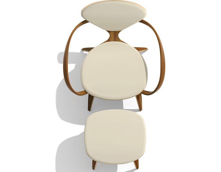 cherner lounge arm chair u0026 ottoman by benjamin cherner