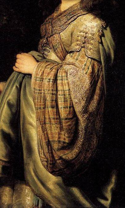 Detail - Rembrandt | Saskia as Flora. Date: 1634. Medium: oil on canvas. | Hermitage Museum