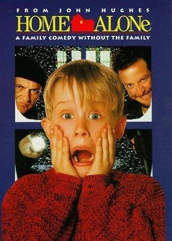 When little Kevin McCallister is accidentally left behind when his family dashes off on a Christmas trip, he is left to defend his family's home from two bumbling burglars until the relatives return.