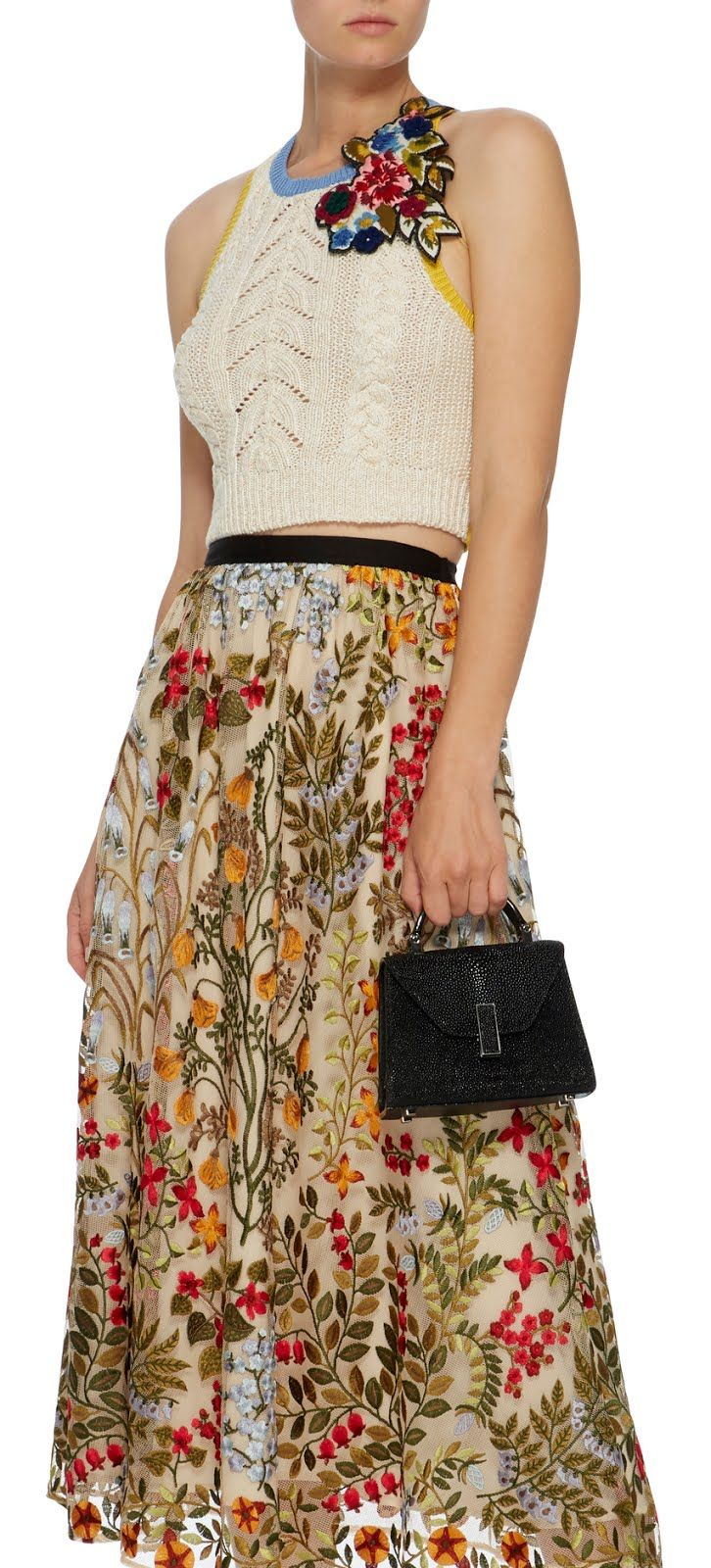 3f86e4f072 Must Have: Floral Embroidered Macramé Dress by Red Valentino | Jolie ...