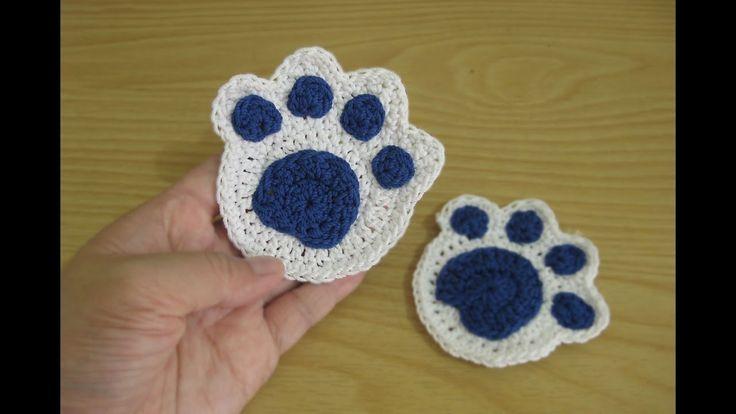 Crochet || Tutorial Merajut Jejak Kaki - Paw Print