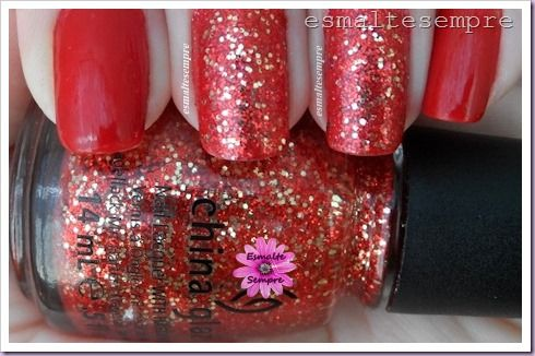 esmalte gabriele colorama + the impossible OPI liquid sand mariah carey + pure joy china glaze unhas de natal 2014  #nailpolish #esmaltesempre #chinaglazenailpolish #esmaltechinaglaze #esmalteimportado