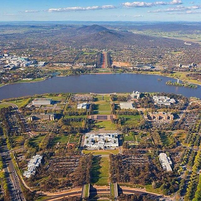 This awesome aerial photo from @hcreations72 shows how beautiful Canberra