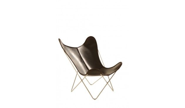Sessel  Manufakturplus Butterfly Chair Hardoy - Leder  Blankleder ...