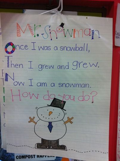snowman poems for children | snowman poem