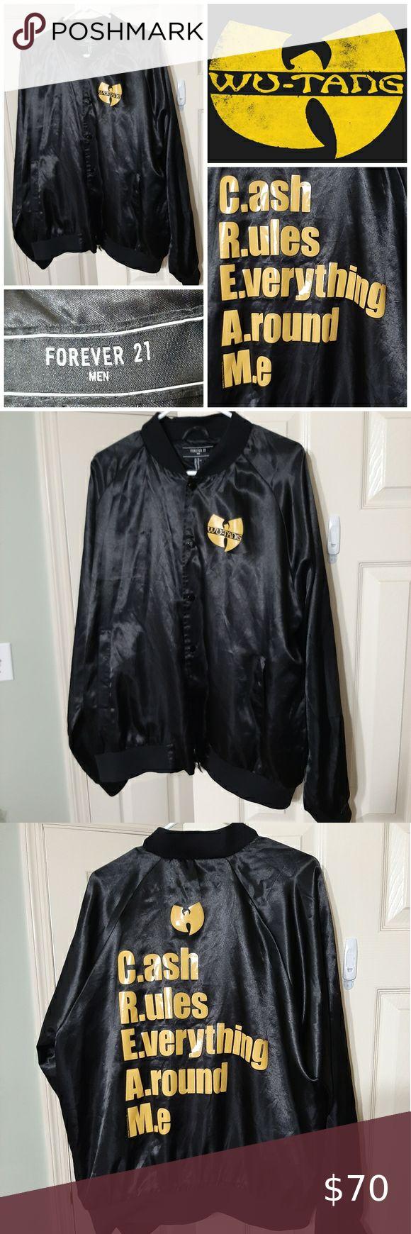 Wu Tang Clan C R E A M Satin Jacket Satin Jackets Brown Denim Jacket Wu Tang Clan Cream [ 1740 x 580 Pixel ]