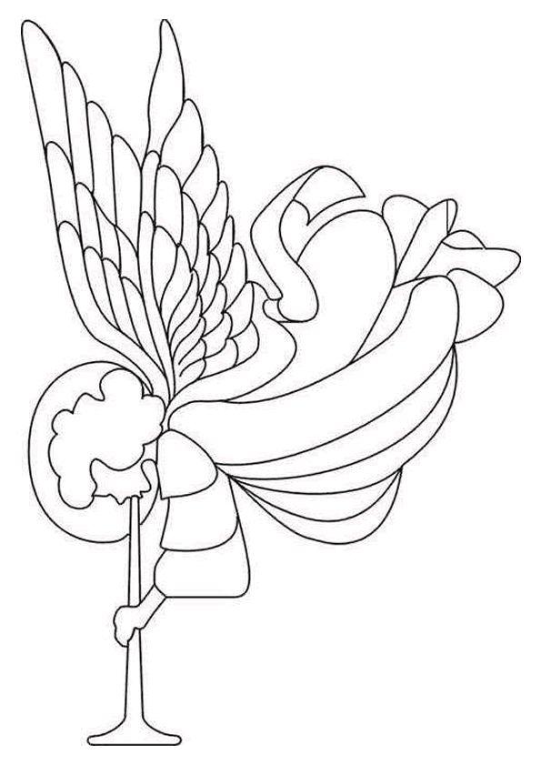 dessin dun ange qui joue de la trompette pour annoncer la naissance du petit