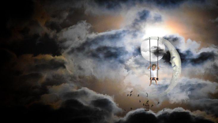 Die Träume, die der Mond dir gibt. Ein Gedicht für den Abend   – Abendgrüße