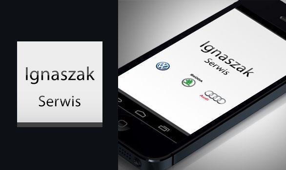 Aplikacja na smartfony Ignaszak Serwis    #automotive #application #ios #android