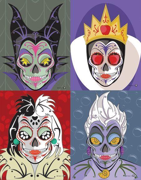 Disney sugar skulls Warhol-style
