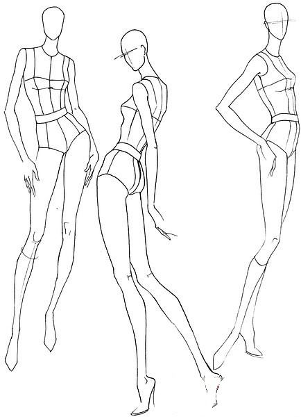 Fashion croquis poses 701 pinterest for Fashion designer drawing template