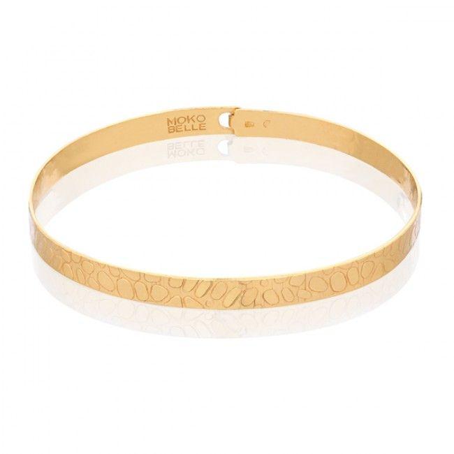 Pozłacana bransoletka obręcz z wężowym wzorem  #mokobellejewellery #bracelet #mokobelle #bransoletka #fashion #jewelry #jewellery #accessories #gold #beautiful