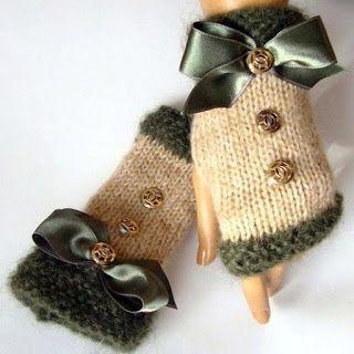 """Милые сердцу штучки: Вязание: """"Митенки - модный тренд сезона"""""""