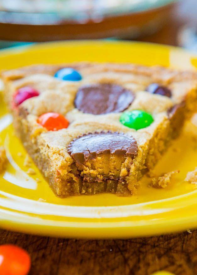 Triple Peanut Butter Cookie Pie - If Click | deserts | Pinterest ...