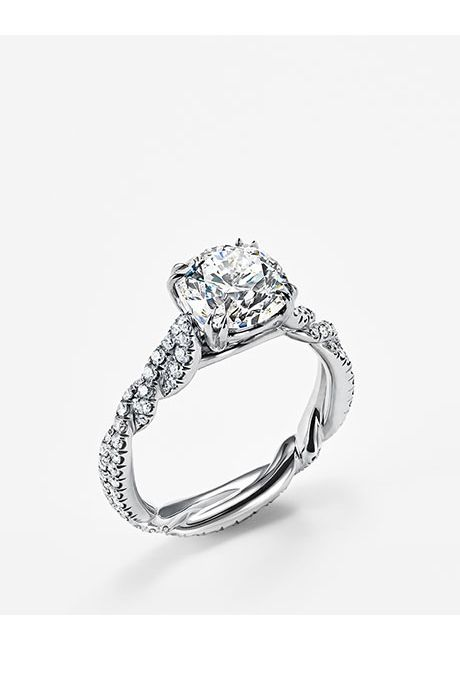 "Brides: David Yurman. ""DY Wisteria"" engagement ring, price upon request, David Yurman"