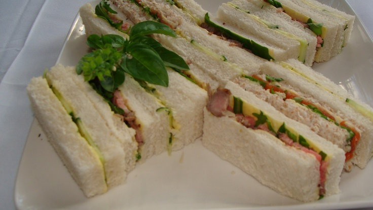 Yummy sandwiches - perfect for an afternoon tea
