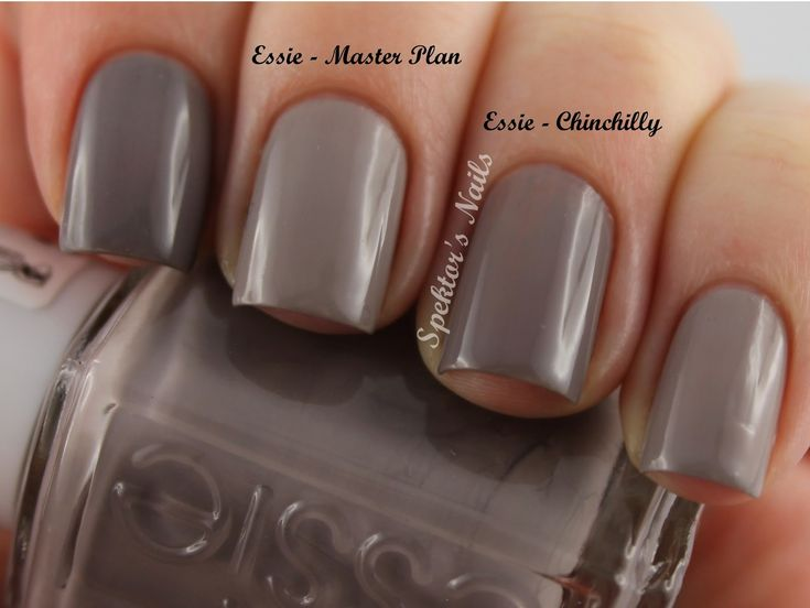 Nude polish for the winter! Essie - Master Plan and Chinchilly ...