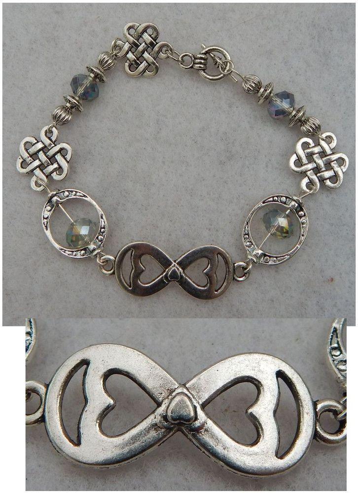 how to make a celtic heart knot bracelet
