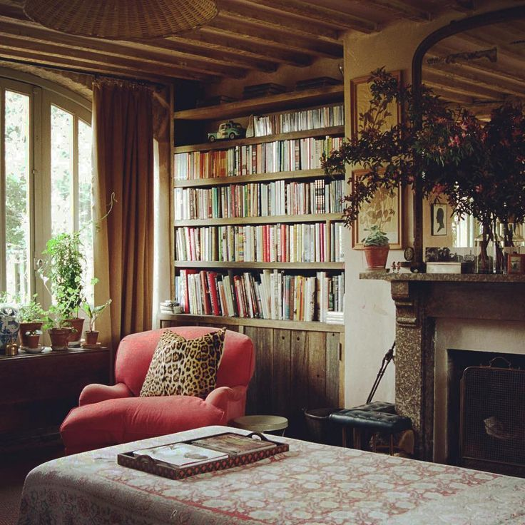 Cozy Home Library Interior Idea