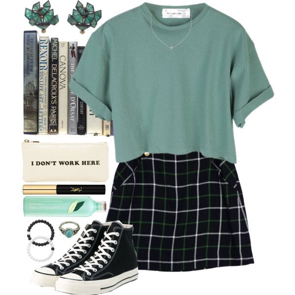 Natasha by brie-the-pixie on Polyvore featuring polyvore, fashion, style, StyleNanda, Kate Spade, Converse, Nak Armstrong, Lokai, Minnie Grace and Yves Saint Laurent