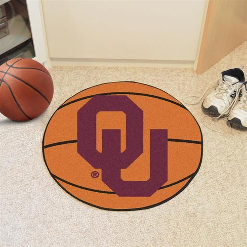 University of Oklahoma Sooners Basketball Floor Rug Mat