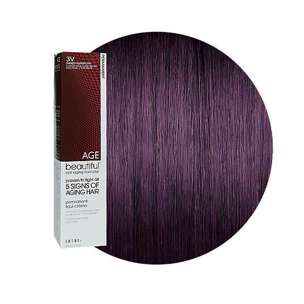 3v Darkest Plum Brown Permanent Liqui Creme Hair Color In