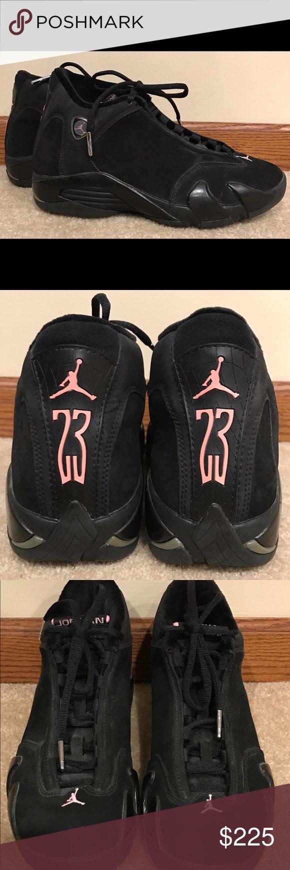 Air Jordan XIV (14) Retro Black & Pink Shoes - US7 Authentic Air Jordan XIV (14) Retro Basketball Shoes -New without box -Unworn -US Size 7 -Black and pink in color -Super retro and baller Air Jordan Shoes Athletic Shoes