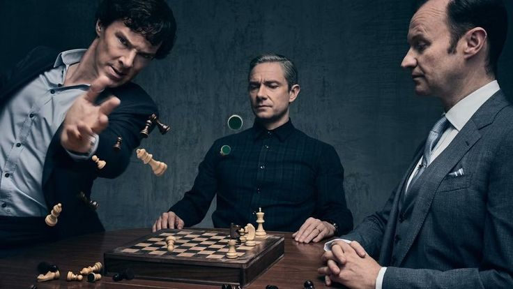 Sherlock, John and Mycroft - New Season 4 still