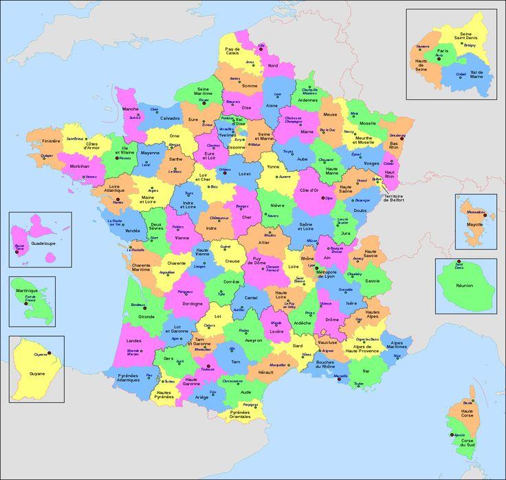 territoire français avec departement