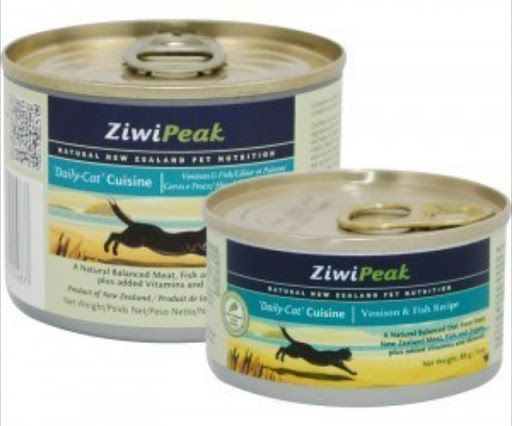 www.petusuals.com.au Pay with Visa, Mastercard, PayPal or BPAY  ZiwiPeak Daily-Cat Moist Cuisine is a premium, raw, real meat, moist cat food The best food available ZiwiPeak is all natural food for cats. The canned ZiwiPeak Cuisine contains a minimum of 66% raw meat, with the balance being moisture and other essential vitamins and minerals like in the dry cuisine.