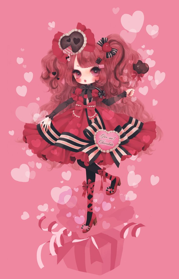 Cute Girl Sketch Wallpaper Too Sweet I Want To Make Those Hair Accouterments