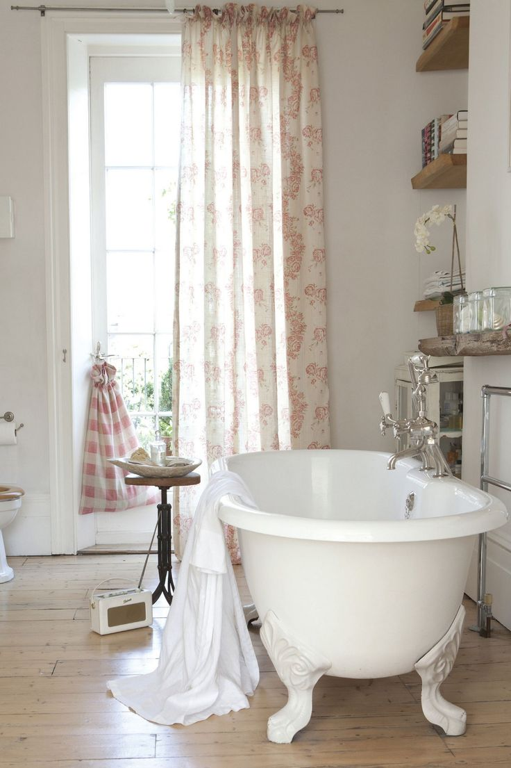 Gorgeous bathroom with Kate Forman fabrics