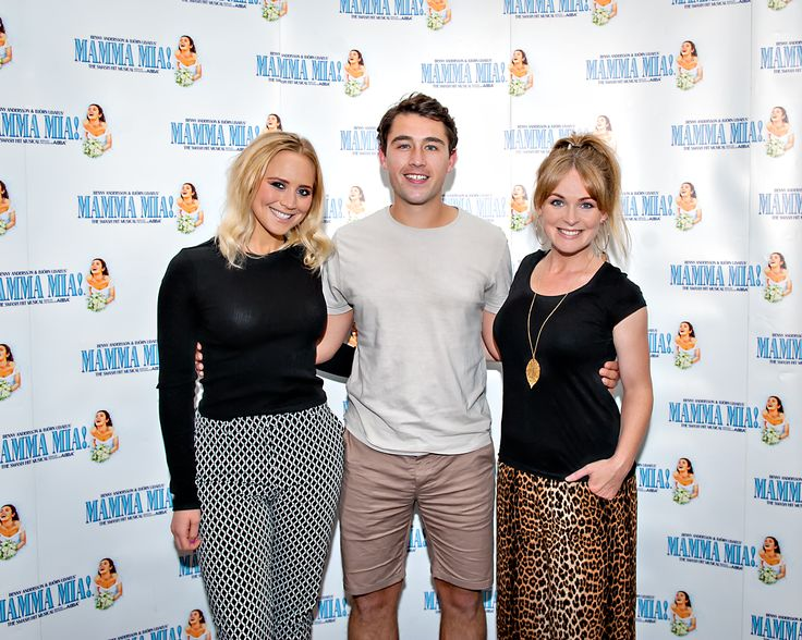Emmerdale's Amy Walsh, Joe Gill and Michelle Hardwick.  We ❤️ this f-ABBA-lous photo from the MAMMA MIA! UK Tour's Press Night on 31 May 2017 at Leeds Grand Theatre.  For all MAMMA MIA! UK Tour dates and tickets visit: www.mamma-mia.com  Photo by Anthony Robling.  #MammaMiaMusical #MammaMiaUKTour #Leeds #PressNight