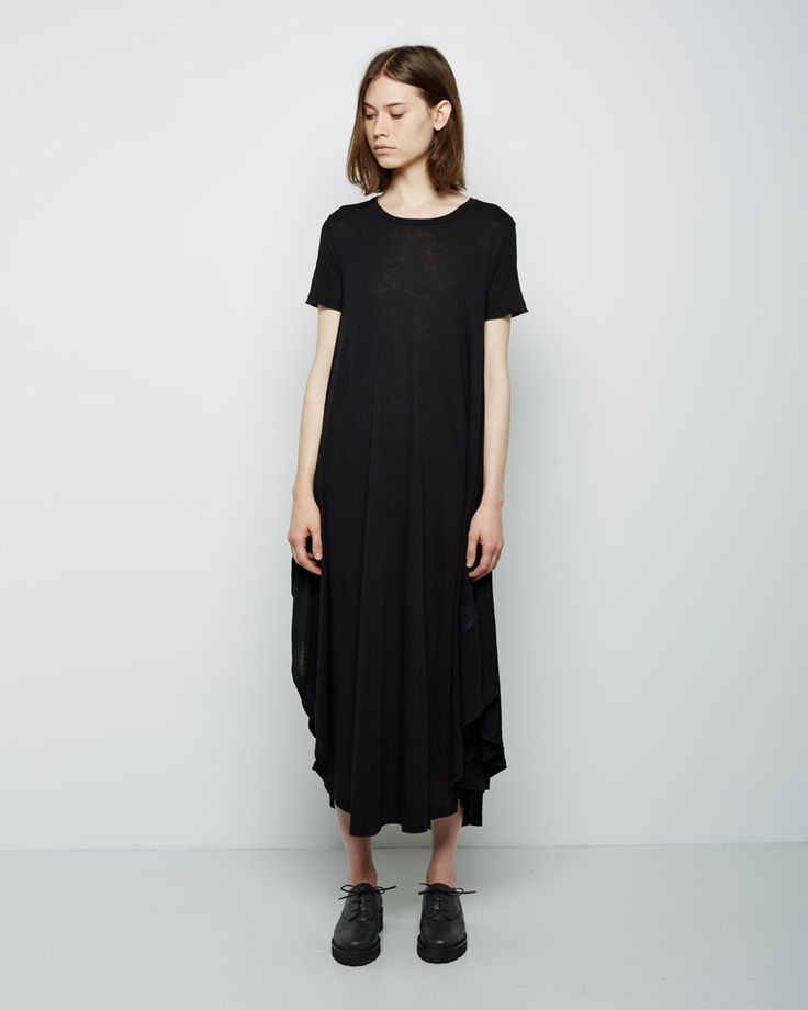 convertible long tee dress / mm6 by maison martin margiela