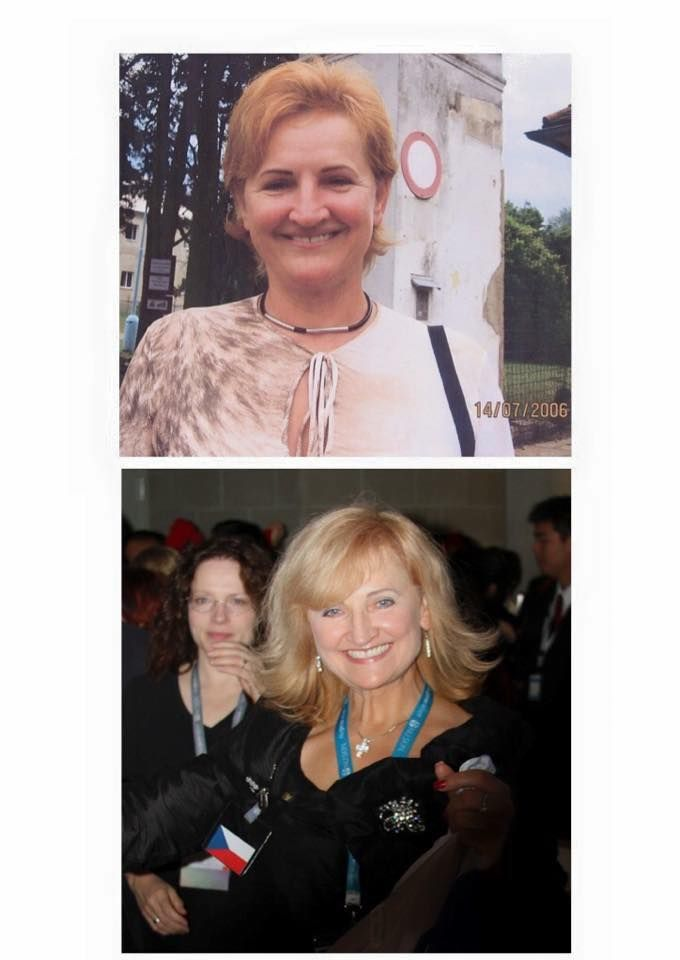 The below picture is after several years consecutive use of products...a Czech lady